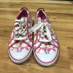Super cute coach sneakers size 10  good condition